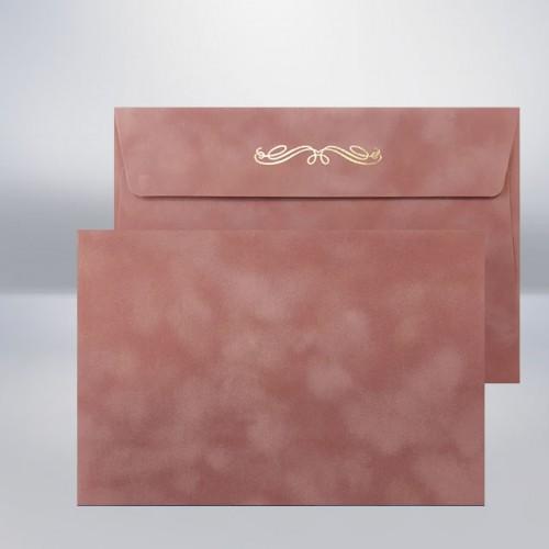 C5 Бархатний конверт pink