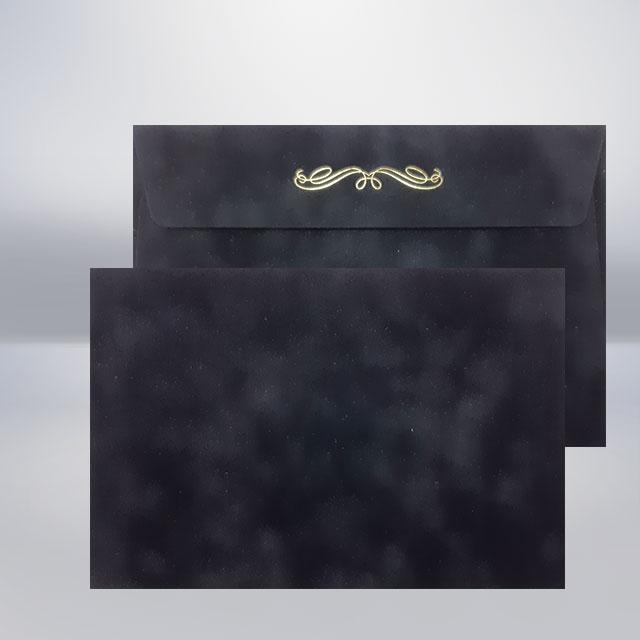 C5 Бархатний конверт charbon