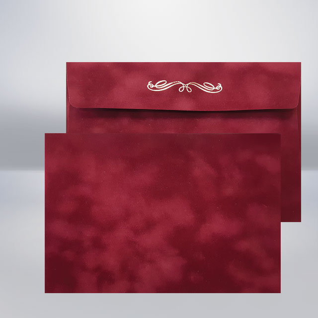 C5 Бархатний конверт prune